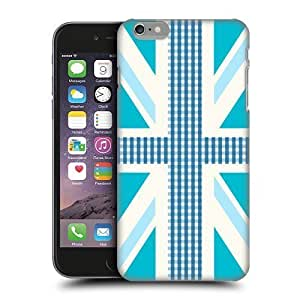 2015 5294827M66104065 Head Case Designs Blue Gingham Union Jack Collection Protective Snap-on Hard Back Case Cover for Apple iPhone 6 Plus 5.5