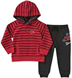 Calvin Klein Baby Boys' 2 Pc French Terry Hoodie Sets, Red/Black, 24M
