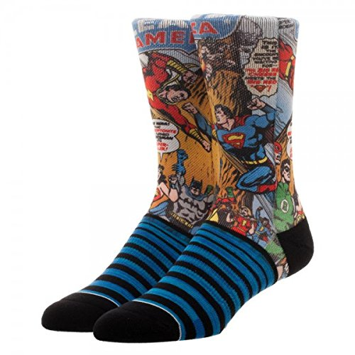 DC Comics Justice League Heroes Battle Sublimated Panel Crew - Justice Shoes League