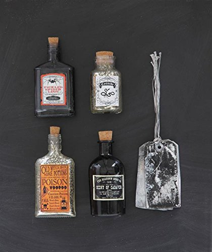 Decorative Glass Potion Bottle Smoke Color Pickled Spider Legs Country Home Halloween Décor
