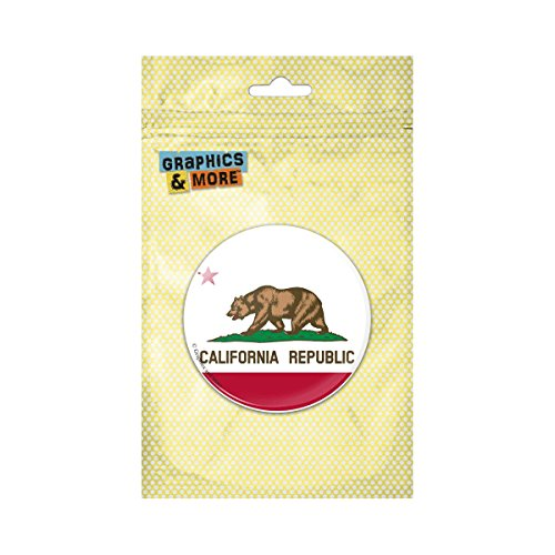(California Republic State Flag Pinback Button Pin Badge - 2.25 Inch Diameter)