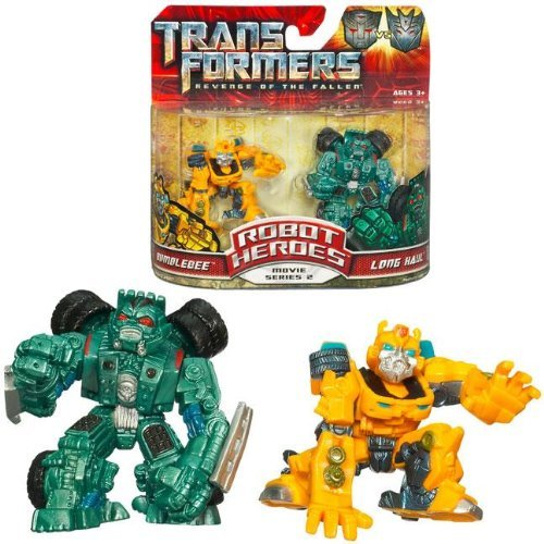 Bee Bumble Heroes Robot - Transformers MV2 Robot Heroes Bumblebee & Long Haul
