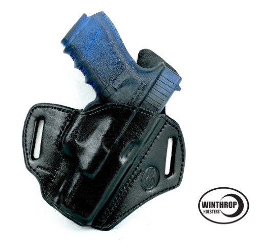 Winthrop Holsters OWB Pancake Black Leather Holster (Glock 26/27#0097)