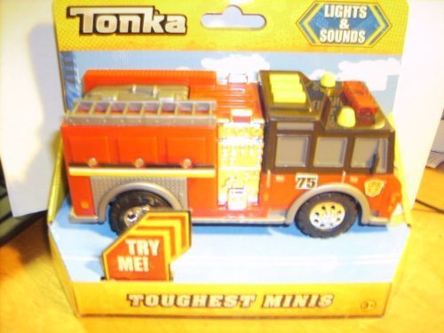 Tonka Lights & Sounds Toughest Minis Fire Engine (Large Tonka Fire Truck)
