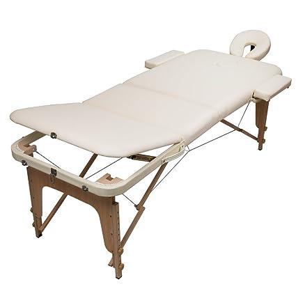Lettino Per Massaggi A 3 Zone Richiudibile Beige Fisioterapia