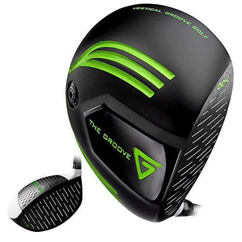 Vertical Groove Golf Driver, Right Handed (Right, Graphite, Stiff, 10.5)