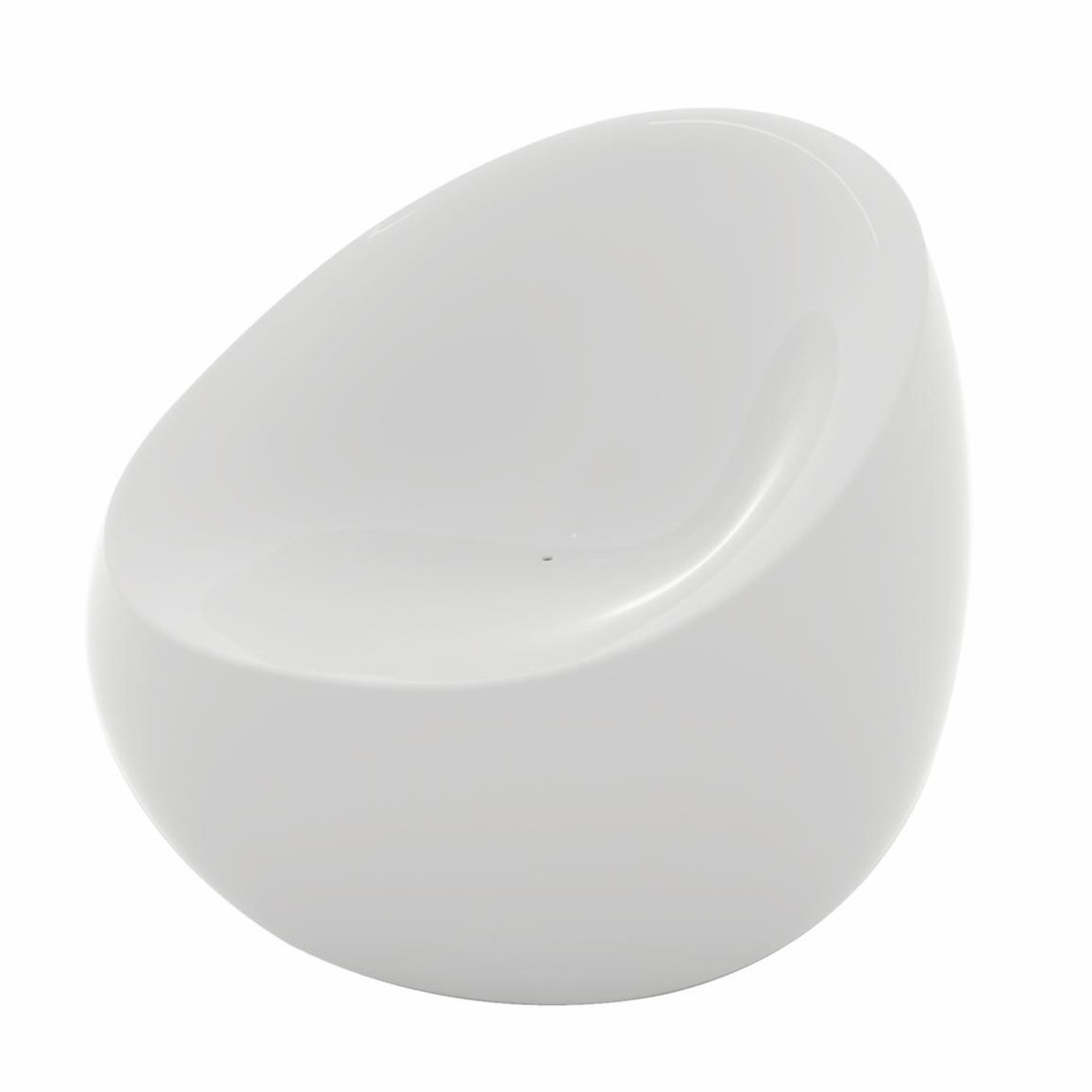Vondom Stones Sessel, weiß glänzend