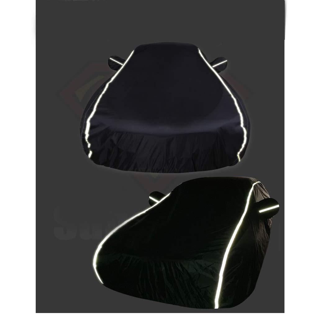 MDBYMX Couverture de voiture Housse int/érieur compatible avec BMW 535Li Couvert de moteur int/érieur noir r/éfl/échissant Size : 520Li