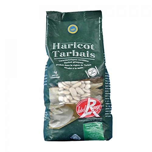 Label Rouge Dry French Tarbais Beans Red Label (Haricot Tarbais) - 2.3 lbs (1 kg) by Label Rouge