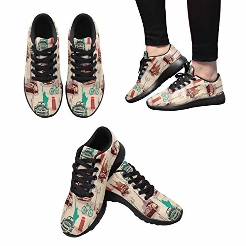 Interestprint Femmes Jogging Running Sneaker Léger Aller Facile Marche Confort Sport Chaussures De Course Multi 13