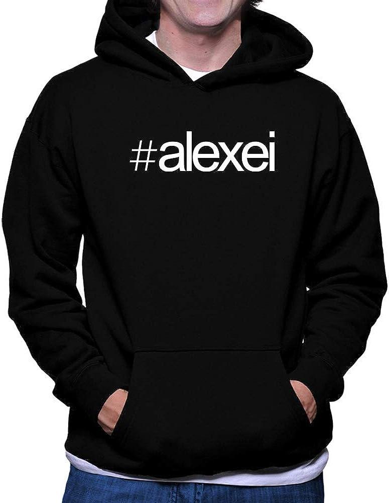 Teeburon Hashtag Alexei Bold Text Hoodie