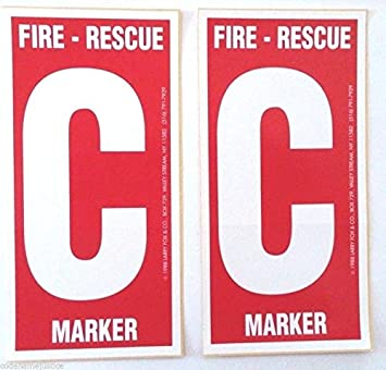 Amazoncom Pack Child Finder Decals For Windows Alert Fireman - Window alert decals amazon