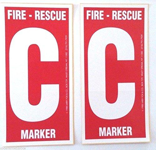 2 Pack Child Finder Decals for Windows Alert Fireman of Child Inside]()