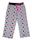 Disney Minnie Mouse Womens Pajama Pants With Silhouette Print - Grey Pink Blue
