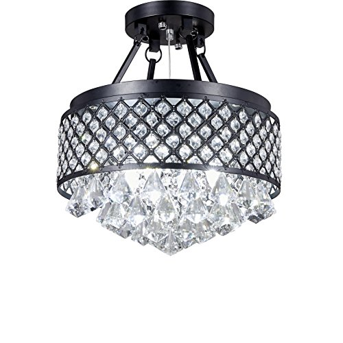 Black Pendant Light With Crystals in US - 7