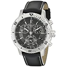 Tissot Men's T0674171605100 PRS 200 Black Chronograph Dial Watch