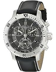 Tissot Mens T0674171605100 PRS 200 Black Chronograph Dial Watch