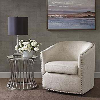 Madison Park Tyler Swivel Chair Natural Multi See Below