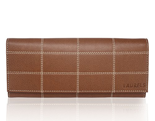 Laurels Victoria Brown Women Hand Clutch With 6 Card Slot and 3 Zippers (LC-VTA-090909)