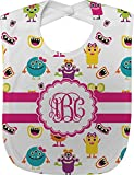 Girly Monsters Baby Bib (Personalized)
