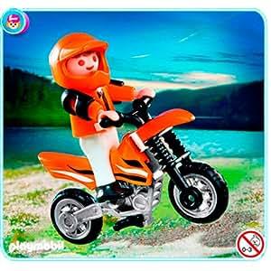 Playmobil 626045 - Moto Niño Con Motocross