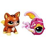Littlest Pet Shop Walkables Kitty Cat & Fish 2 Pack
