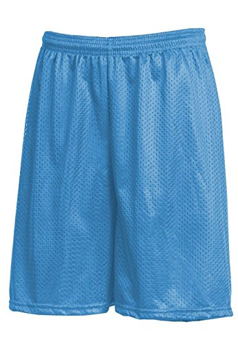 Hat and Beyond IH Men Mesh Shorts with Pockets Lightweight Plain Basketball Workout Jersey Fitness Gym (Small, 1ih01_Sky Blue)