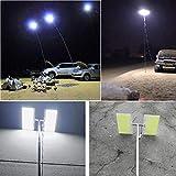 Pstars Telescopic COB Rod LED Fishing Lamp Outdoor Camping Lantern Hiking BBQ Night Light