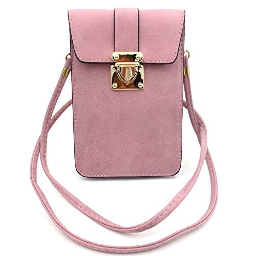 Leather Crossbody Shoulder Cellphone Wallet