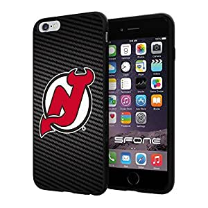New Jersey Devils Carbon Fiber Design #1709 iphone 4s) I+ Case Protection Scratch Proof Soft Case Cover Protector