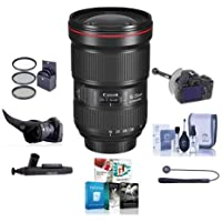 Canon EF 16-35mm f/2.8L III USM Ultra Wide Angle Zoom Lens - U.S.A. Warranty - Bundle with 82mm Filter Kit, Flex Lens Shade, DSLR Follow Focus & Rack Focus, Software Package And More