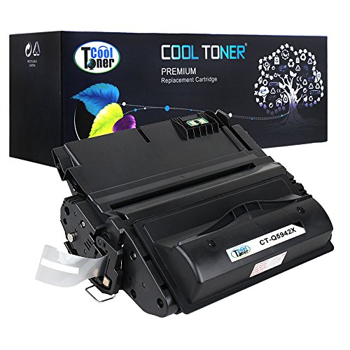 Cool Toner 1 Pack 27,000 Pages Compatible Toner Cartridge Replacement For HP 42X Q5942X Q1338A Q5942 Used For HP LaserJet 4200 4240 4250 4250TN 4250N 4250DTN 4300 4350 4345MFP 4350N 4350TN 4350DTN