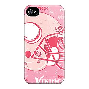 Shock Absorbent Cell-phone Hard Cover For Iphone 6 With Unique Design High-definition Minnesota Vikings Series IanJoeyPatricia