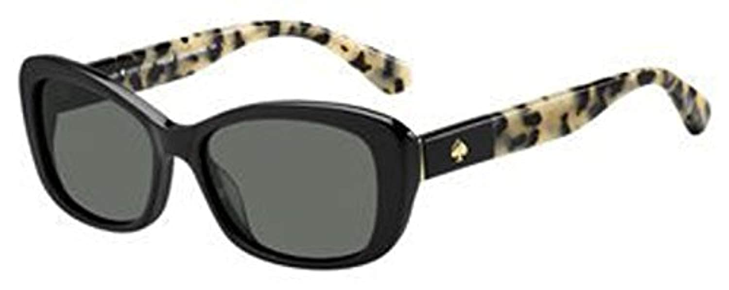 e4333e75b327f Amazon.com  Kate Spade Women s Claretta p s Polarized Rectangular Sunglasses  Havana 53 mm  Clothing