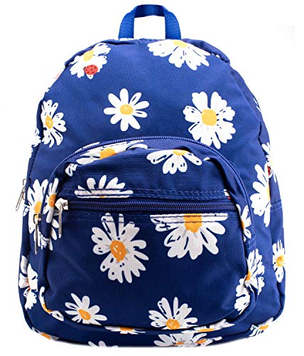Rave Envy - Mini Backpack - Small Profile, But Plenty of Space Back Packs - Great Daypack (Daisy Flower)