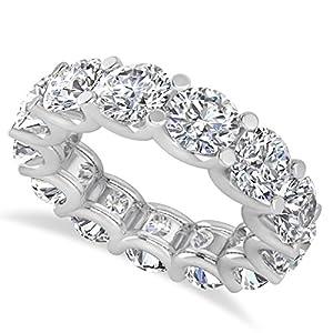 14k Gold (9.75ct) Diamond Eternity Prong-Set Wedding Band
