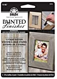 FolkArt Painted Finishes Art Paint Set (2-Ounce), 5074 Barnwood Tint/Barnwood Wax Carded