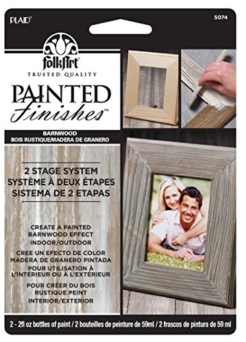 FolkArt Painted Finishes Art Paint Set (2-Ounce), 5074 Barnwood Tint/Barnwood Wax Carded by FolkArt