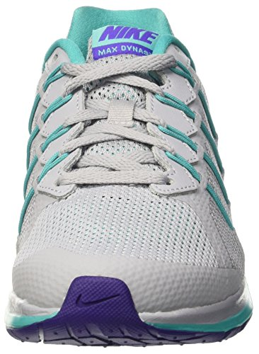 Nike Wmns Air Max Dynasty - Entrenamiento y correr Mujer Gris (Wolf Grey / Fierce Purple-Clear Jade)