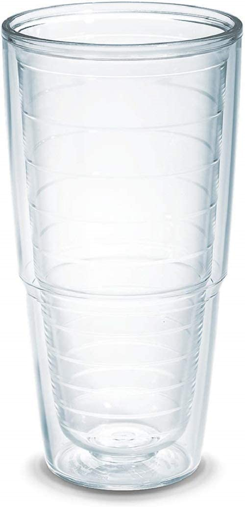 Amazon Com Tervis Clear Colorful Insulated Tumbler 24oz Tritan Clear Tumblers Water Glasses