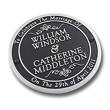 Amazon The Metal Foundry Personalized Wedding Gift Plaque