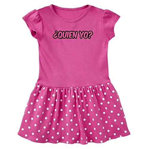 inktastic Â¿Quien yo? Infant Dress 24 Months Raspberry with Polka Dots 15b5b