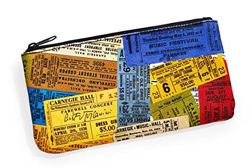 Carnegie Hall Vintage Tickets Canvas Pouch
