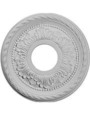 Ekena Millwork 11 3/8-Inch OD x 3 5/8-Inch ID x 7/8-Inch Palmetto Ceiling Medallion