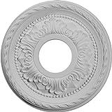 Ekena Millwork CM12PM 12 1/8-Inch OD x 3 5/8-Inch ID x 1-Inch Palmetto Ceiling Medallion