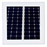 3dRose Alexis Photography - Objects - Dark blue solar power panel divided into two parts by white frame - 20x20 inch quilt square (qs_271344_8)