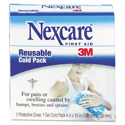 3M Nexcare Reusable Cold Pack, 4 x 10, 12-Pack