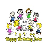 Charlie Brown Peanuts Snoopy Edible Image Photo Cake Topper Sheet Personalized Custom Customized Birthday Party - 1/4 Sheet