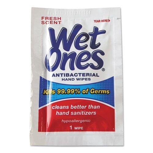 Wet Ones Antibacterial Hand Wipes Singles,pack of 20 (24 Wipes Per Pack)