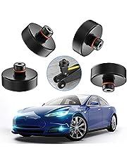 AOXOI Domkraft gummidyna för domkraft och universal gummidyna för Tesla modell 3/personbil/SUV Robust och praktisk Perfekt för bilinställning och skydd av bilen från repor (4 stycken)
